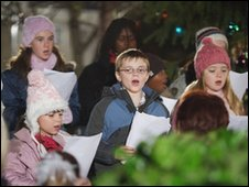 Carol singing on Eastenders
