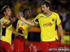 Watford players