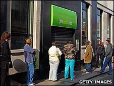 queue outside a Jobcentre