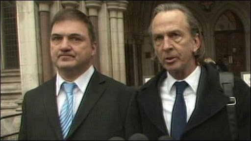 Barry George with solicitor Nicholas Baird