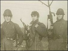 Soldiers of Romanian army, Arad, western Romania