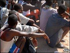 Somali asylum seekers arriving in Yemen in 2008