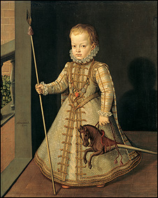 Portrait of the Infante Don Diego, son of King Philipp II of Spain (1575–1582), 1577. Oil on canvas; 108 x 88.2 cm. © Sammlungen des Fürsten von und zu Liechtenstein, Vaduz–Wien.
