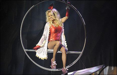 Pamela Anderson in Aladdin. Photo: Anthony Luvera