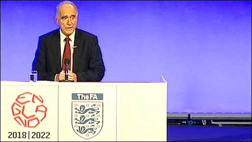World cup 2018 selection panel chairman Lord Mawhinney