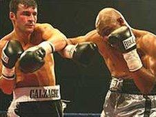 Joe Calzaghe lays into Byron Mitchell