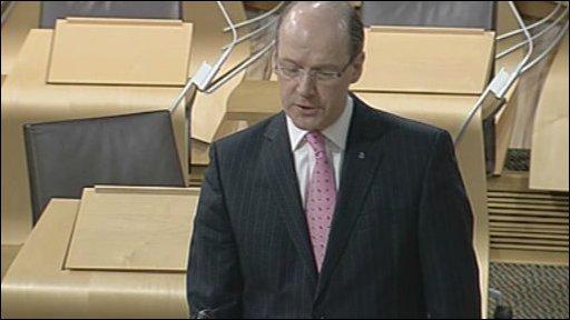 Finance Secretary John Swinney led the debate