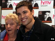 Joe McElderry and his grandmother Hilda