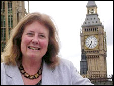 Julie Morgan MP at the Houses of Parliament