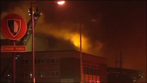 Fire at Afan Lido