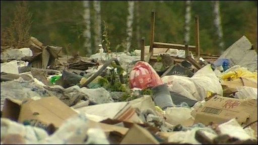 Russian rubbish dump