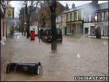 Flood waters in the centre of Cockermouth. Picture by Louisa Le Voi.