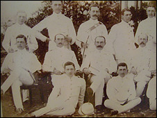 Photograph of Churchill and his contemporaries in Banglalore