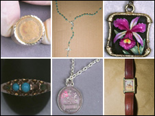 Some of the jewellery recovered by police