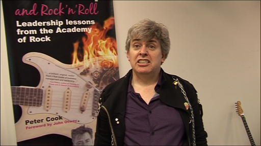 Business consultant and rock musician Peter Cook