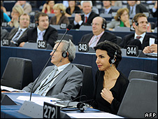 MEPs in Strasbourg parliament (file pic)