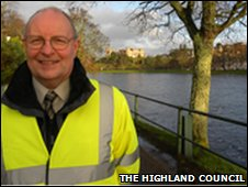 Richard Guest in high vis jacket in Inverness