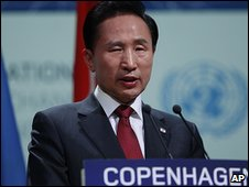 Lee Myung-bak at climate summit