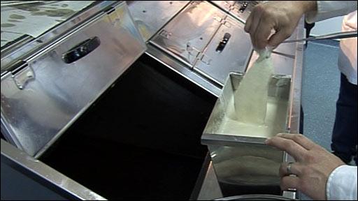 Fish dipped in batter
