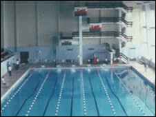 A swimming competition when the venue staged the Urdd Eisteddfod in 1983
