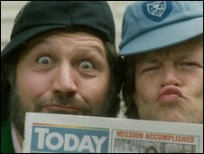 Bruno Brookes and Dave Lee Travis
