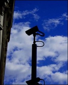 A closed circuit camera in central London