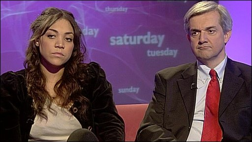 Miquita Oliver and Chris Huhne