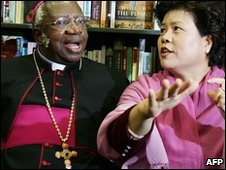 Archbishop Emmanuel Milingo and his wife in 2008