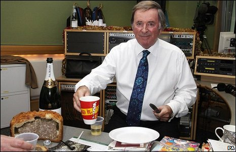 Sir Terry Wogan presents his breakfast show for the last time