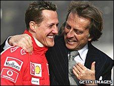 Michael Schumacher and Ferrari president Luca di Montezemolo