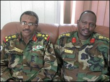 Brigadier Esam Al Din and Colonel Peter Gai