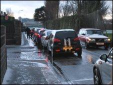 Traffic jam in Jersey