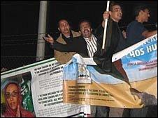 Aminatou Haidar supporters