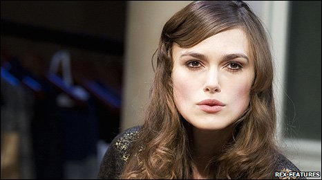Keira Knightley in The Misanthrope.  Photo credit: Geraint Lewis/Rex Features