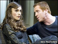Keira Knightley and Damian Lewis in The Misanthrope. Photo credit: Geraint Lewis/Rex Features