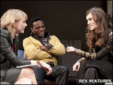 Kelly Price, Chuk Iwuji and Keira Knightley in The Misanthrope. Photo credit: Donald Cooper/Rex Features