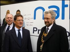FAbio Capello and Councillor Michael Wilkes