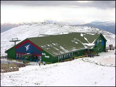 The top ski station at the Nevis Range; pic courtesy of Undiscovered Scotland