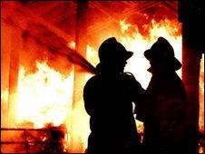 Firefighters tackling blaze