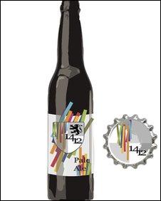 1412 beer design by Glyndwr University students in Wrexham