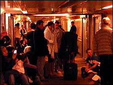 Passengers transferred to shuttle train
