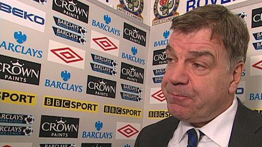 Blackburn Rovers manager Sam Allardyce