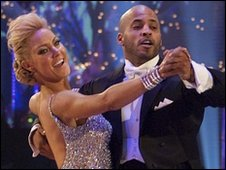 Ricky Whittle with Natalie Lowe