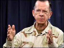 Adm Mike Mullen in Baghdad on 19 December 2009