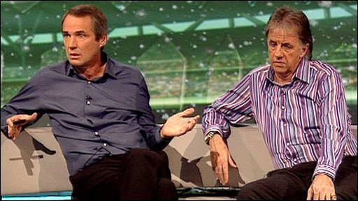 Alan Hansen (left) and Mark Lawrenson