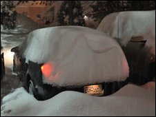 Car covered in snow. Photo: Jonathan Heywood