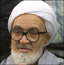 Grand Ayatollah Hoseyn Ali Montazeri in January 2003