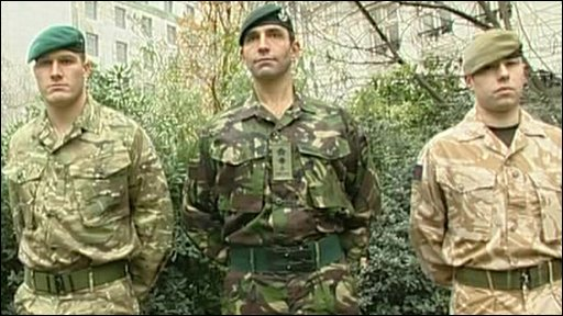 New and old British Army uniforms