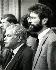 Gerry Adams Snr (centre) and Gerry Adams