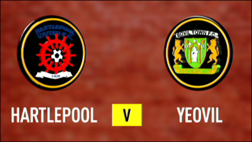 Graphic of the Hartlepool and Yeovil club badges